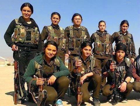 conbatientes kurdos en Kobane