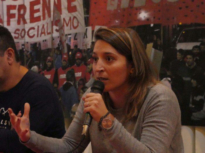Manuela Castañeira interviene en la Convención Nacional del Nuevo MAS
